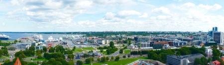Panorama view of Tallinn, the capital of Estonia