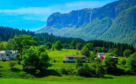 Wonderful countryside colors of Norway - summer season