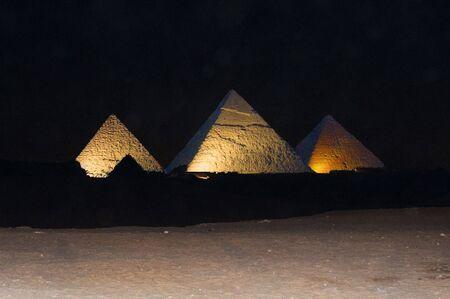 giza: Pyramids at night
