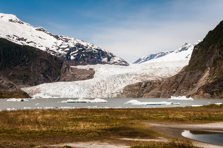 Menden Hall Glacier Stock Photo