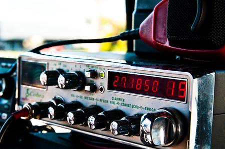CB Radio in einem Semi Truck