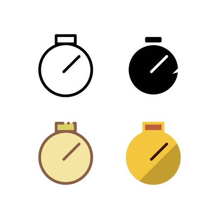 Time icon. With outline, glyph, filled outline and flat style