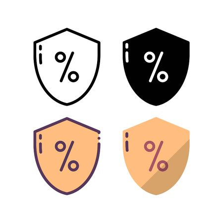 Secure payment icon. With outline, glyph, filled outline and flat style. Ilustração