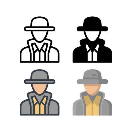 Agent avatar icon. With outline, glyph, filled outline and flat style Vector Illustration