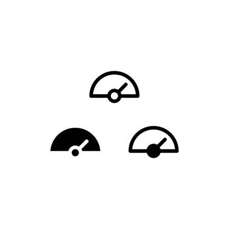 Speedometer icon. With outline and glyph style Illusztráció