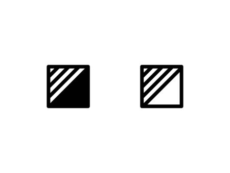 Pattern icon. with outline and glyph style