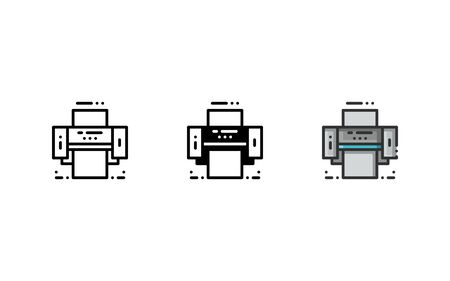 Laminating machine icon. With outline, glyph, and filled outline style