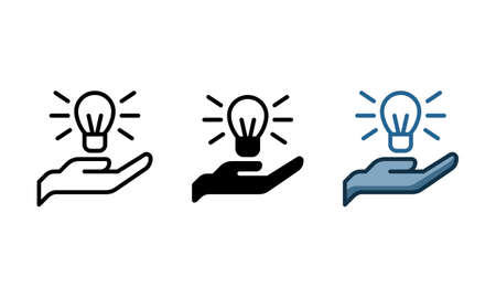 Knowledge sharing icon. With outline, glyph, and filled outline styles