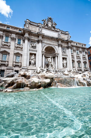 The Trevi Fountain. Fontani di Trevione. One of the most famous and visited fountains in Rome, Italy photo