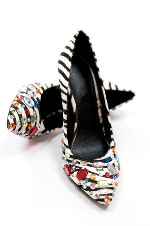 Sexy Zebra print high heeled women photo