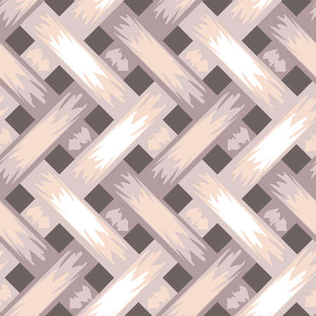 Seamless vector pattern braiding textured background. Weaved wallpaper design with purple and pink colours. Simple 3d fashion tile.
