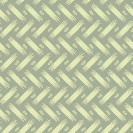 Seamless vector pattern with braiding textured on light green background. Simple soft wallpaper design with brush strokes textured effect. Illusztráció