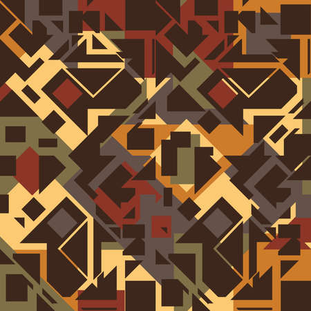Seamless vector pattern textured brown background. Computer chip wallpaper design geometrical art. Ideal home decoration fabric, Modern fashion.