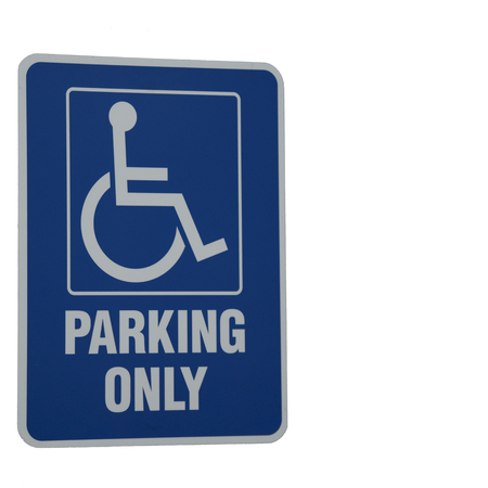 Handicap, Disability Parking Sign on White Background photo