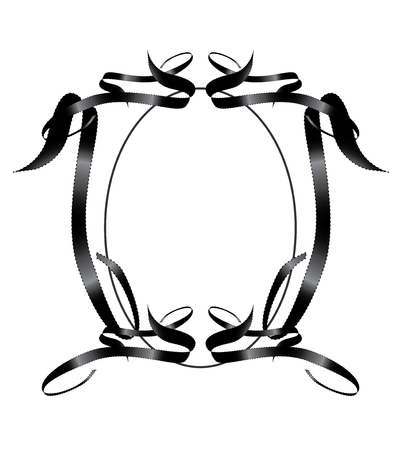 Black Ribbon frame Element Иллюстрация