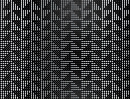 Triangular dot background in black and silver Stock Photo