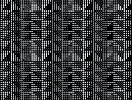 Triangular dot background in black and silver Reklamní fotografie