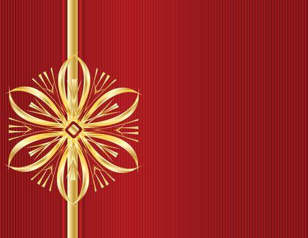Gold ontwerp met rode lijn achtergrond