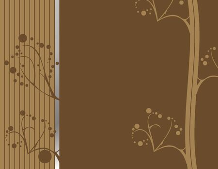 Brown abstract earthy design with silver accent