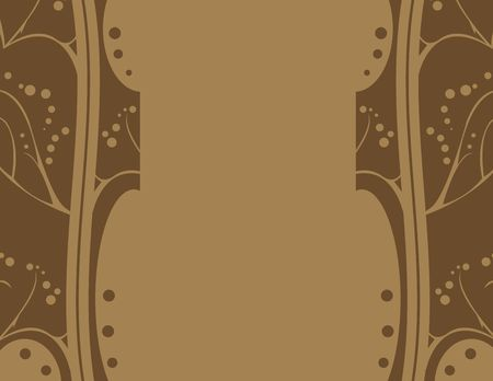 Brown abstract earthy design in brown and tan
