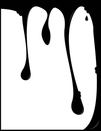 Dripping vertical background with white area