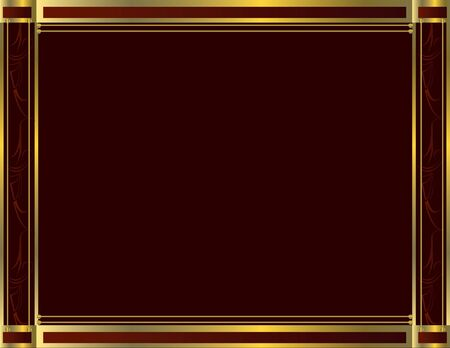 Red gold frame with blank red center