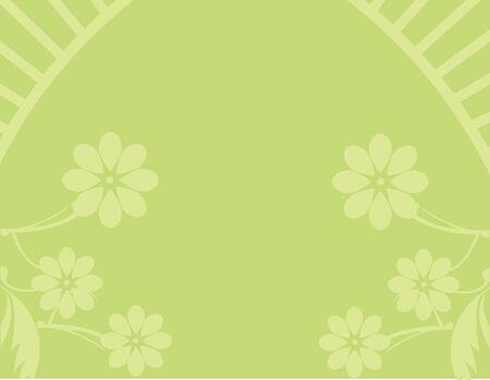 Yellow green flower background Stock Photo