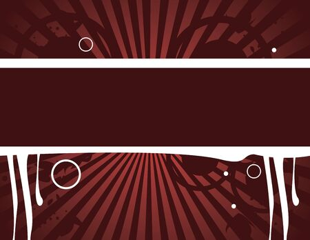 Red grunge banner on a red background