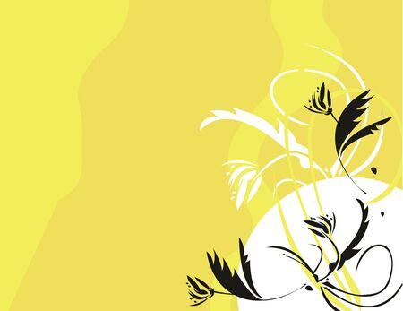흑인과 백인은 노란색 배경에 꽃 스톡 콘텐츠