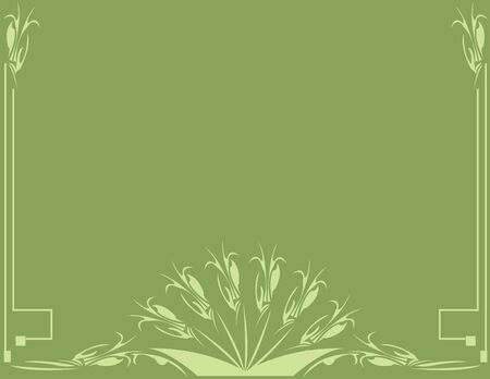 Classical green background with space for copy Stock Photo