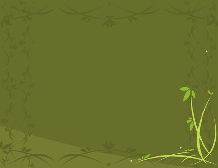 Green leafy background  with open center