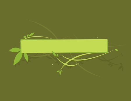 Green leafy banner on a dark green background