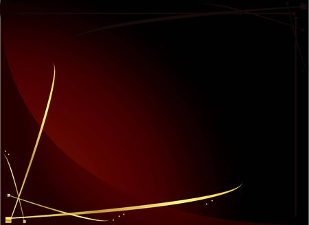 Elegant gold and red background  Stock Photo