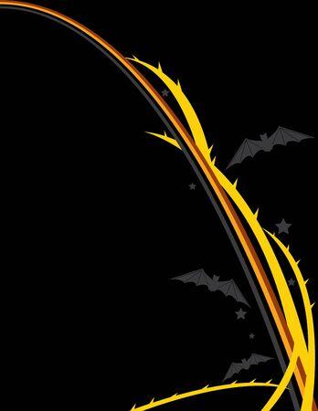 design on a black background