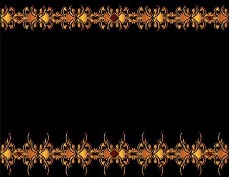 Gold elegant design on a black background