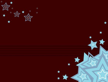 Brown background with blue stars