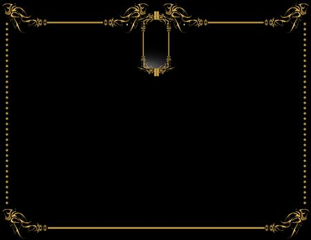 Gold black elegant design on a black background Stok Fotoğraf - 4106055