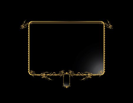 Gold black elegant design on a black background Stock Photo - 4106052