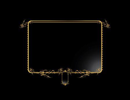Gold black elegant design on a black background Stock Photo - 4106052