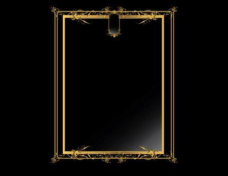 Gold black elegant design on a black background
