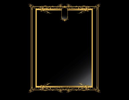 gold textured background: Gold black elegant design on a black background
