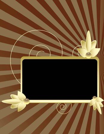 Keur frame op een ray achtergrond met zwarte lege sectie Stockfoto