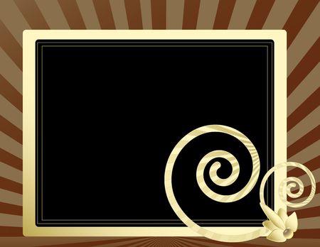 Cream frame op een ray achtergrond met zwarte gedeelte leeg