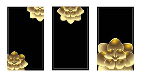 understated: Vertical  gold business card set isolated on a white background