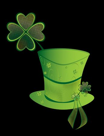 St Patrick's Day hat isolated on a black background Stock Photo - 4119145