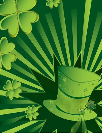 goodluck: St Patricks Day hat with active ray background