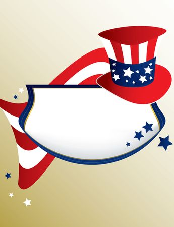 American patriotic banner on a tan background Stock Photo