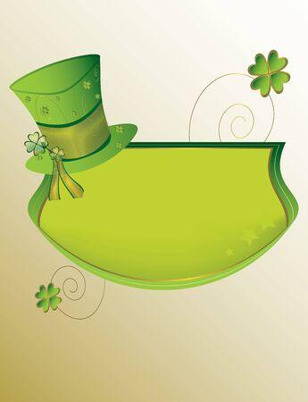 St Patricks Day banner background on tan background