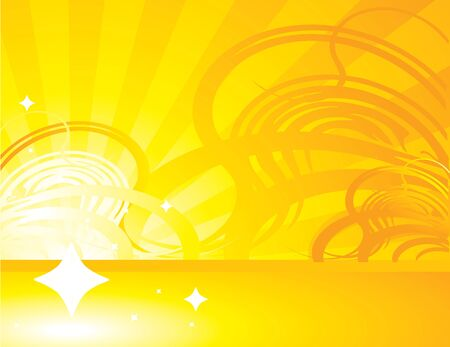 Yellow orange abstract ray background with abstract design Banco de Imagens