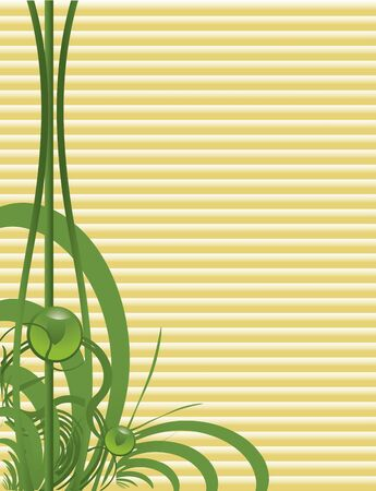 Green abstract  on a tan background  Reklamní fotografie